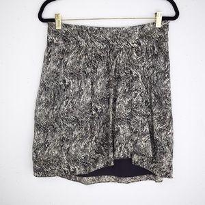 Club Monaco 100% Silk Printed Skirt